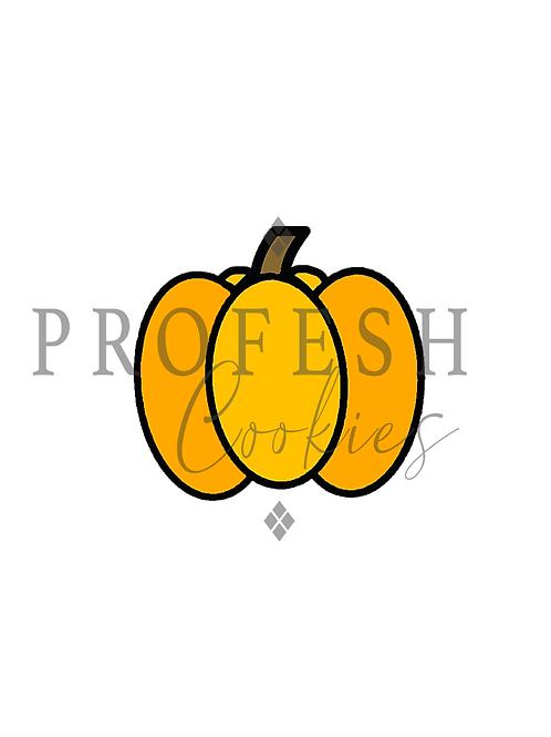 Pumpkin Royal Icing Transfer Sheet