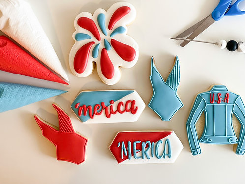 Red, White & Blue Cookie Class