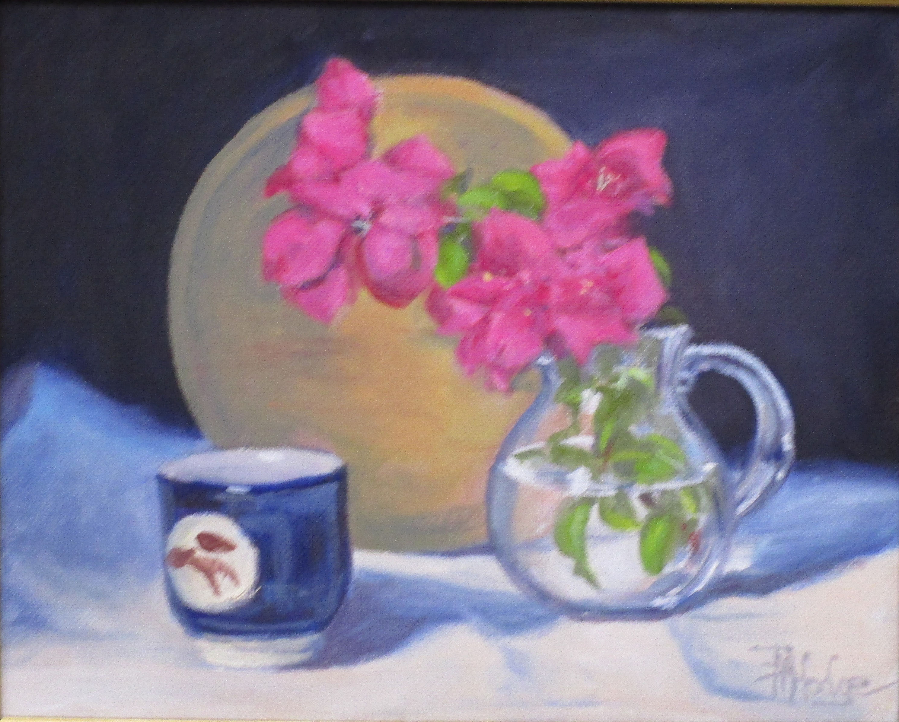 5080 Bougainvilleas and cup  8x10
