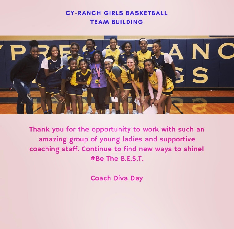 DDC Leadership and Team Building with Cy-Ranch Girls Basketball Team. #leadership