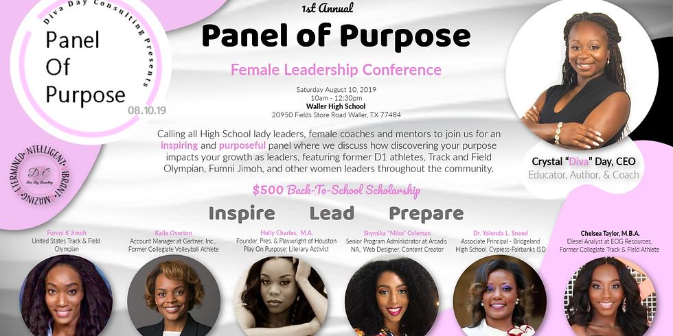 "Panel of Purpose ""Inspire - Lead - Prepare"""