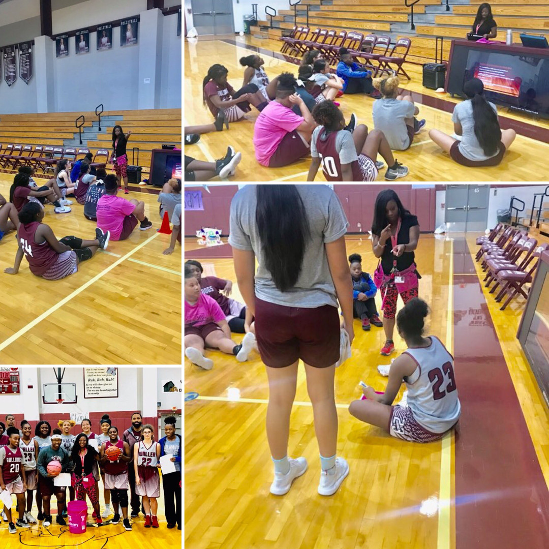 DDC Leadership and Team Building with Waller Girls Basketball Team  #Bulldogs