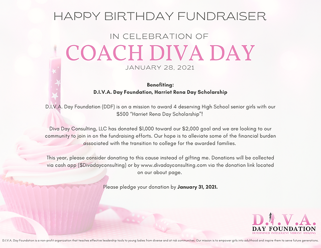 D.I.V.A. Day Foundation Birthday Flyer_V