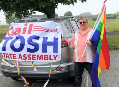 Accept Oswego Holds Drive-By Pride Parade