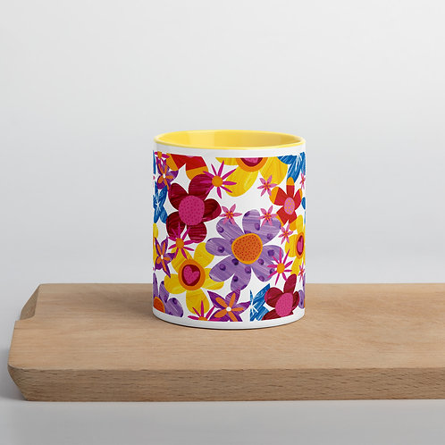 Painted Flowers Mug