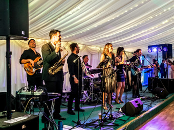 9 piece live party band @ Longstowe Hall