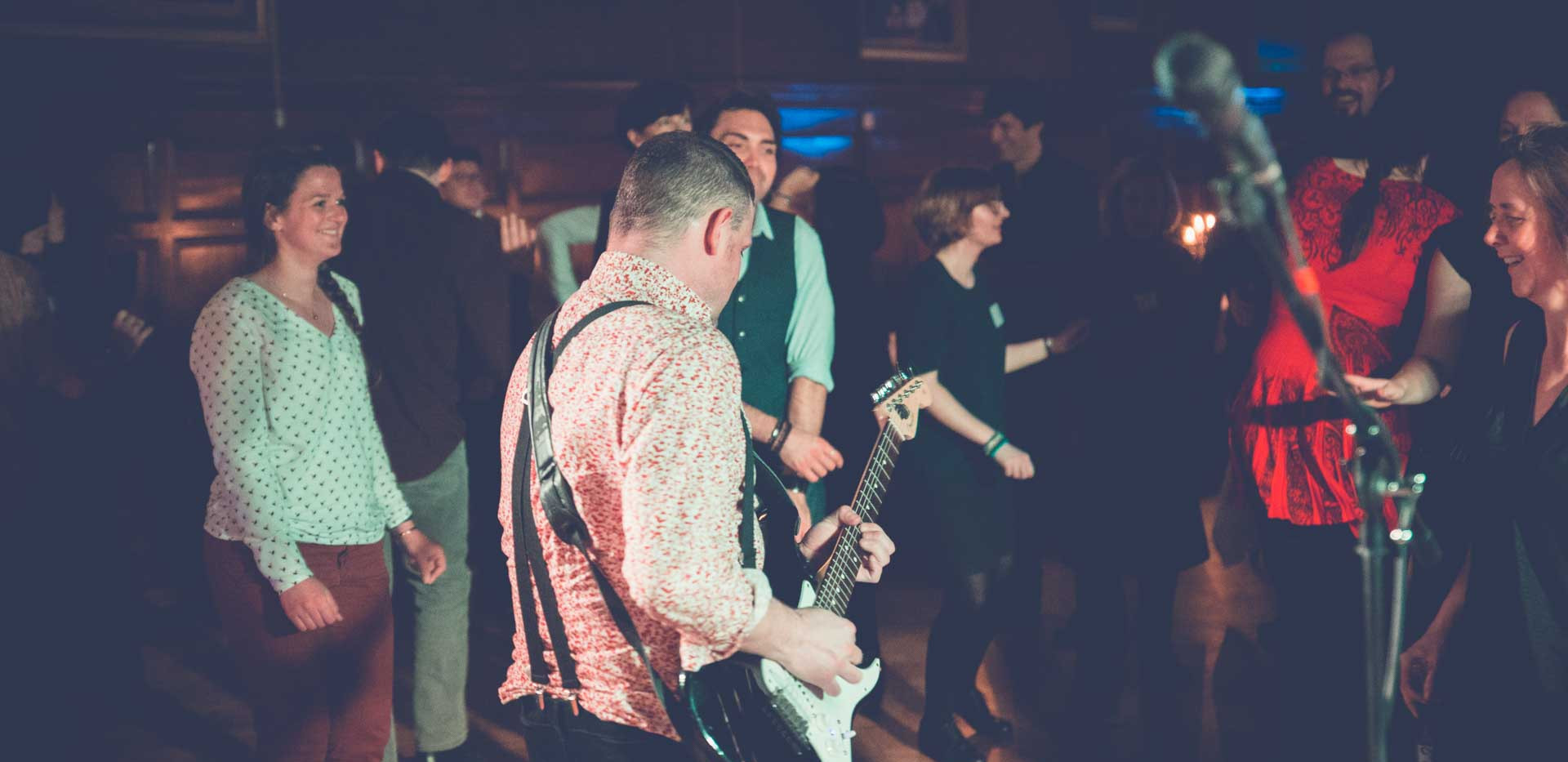 James Robinson, guitarist for Playback in Cambridge