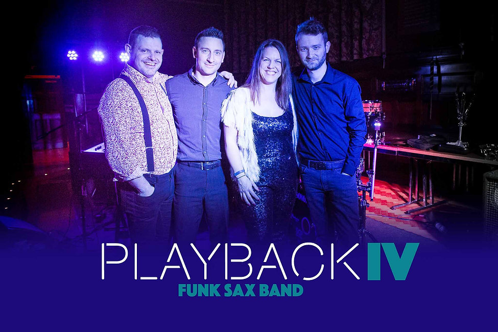 four Piece live party band with sax Norfolk Essex
