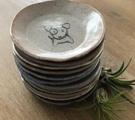 'Dog' Ceramic Mini Plate