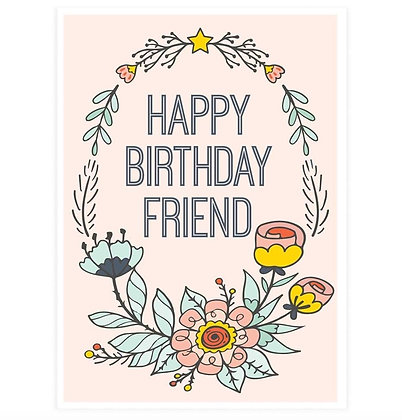 Happy Birthday Friend Greeting Card