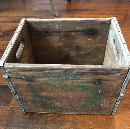 Canada Dry Ginger Ale Wood & Metal Crate