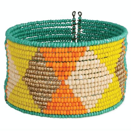 Desert Diamonds Beaded Cuff Bracelet