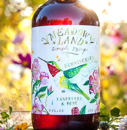 Meadowland Hummingbird Simple Syrup - Raspberry & Rose