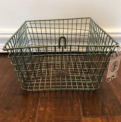 Metal Basket Locker - Turquoise