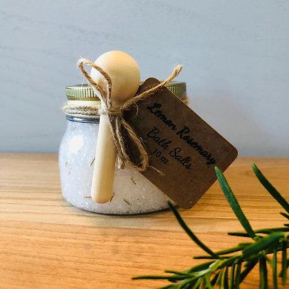 10oz Lemon Rosemary Essential Oil Bath Salts