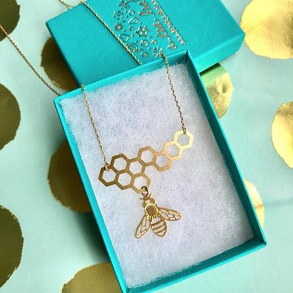 Honeybee & Honeycomb Necklace