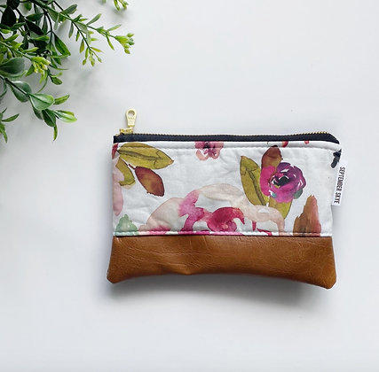 Indy Bloom Watercolor Floral Print Coin Purse