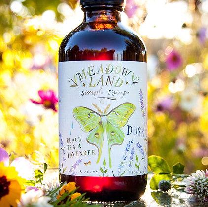 Meadowland Dusk Simple Syrup - Black Tea & Lavender