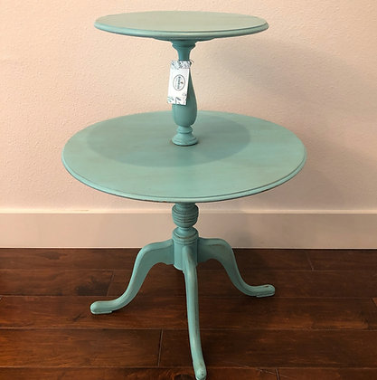 Two Tier Turquoise Accent Table