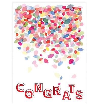 Congrats Confetti Greeting Card