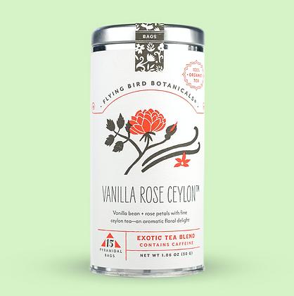 Vanilla Rose Ceylon - 15 Tea Bag Tin