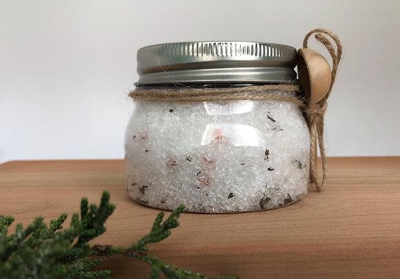 10oz Peppermint Essential Oil Bath Salts