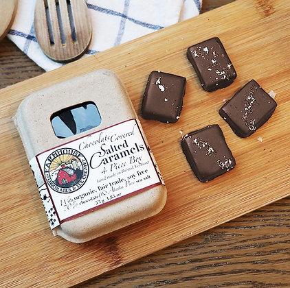 4 Piece Dark Chocolate Salted Caramels