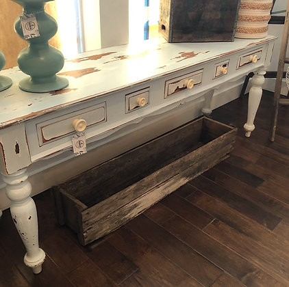 Large Distressed Console Table