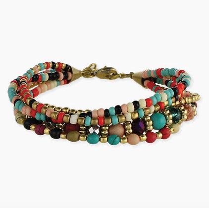 Boho Multi Beaded Bracelet