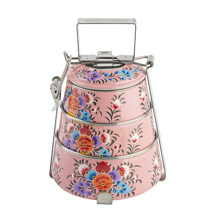 Pink Stainless Steel Tiffin Box