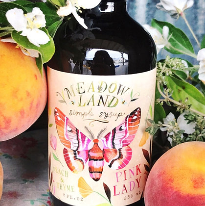 Meadowland Pink Lady Simple Syrup - Peach & Thyme