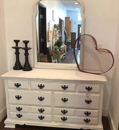 Refurbished 7 Drawer Dresser With Mirror