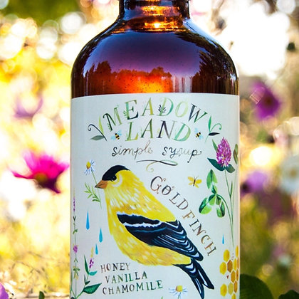 Meadowland Goldfinch Simple Syrup - Honey Vanilla Chamomile