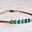 """Thumbnail: 7"""" Turquoise Blue Czech Beads And Bronze Seed Bead Bracelet"""