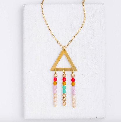 Multicolor Triangle Necklace