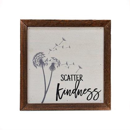 6x6 Scatter Kindness Sign