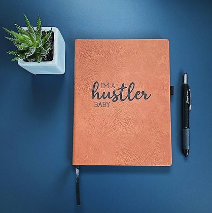 I'm A Hustler Baby Faux Leather Journal
