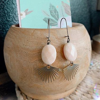 'Sahara' Peach Sunburst Earrings