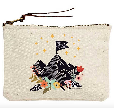 Stay Wild Canvas Zippered Tote