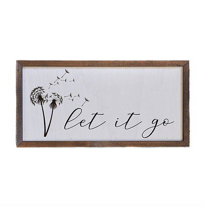 12x6 Let It Go Wall Sign