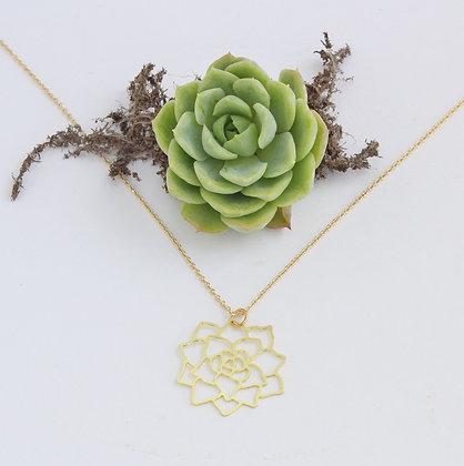 Gold Succulent Necklace