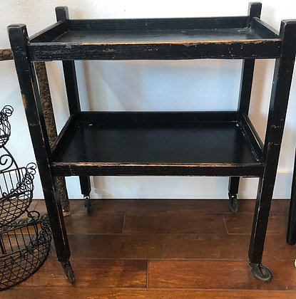 Black Wooden Rolling Table