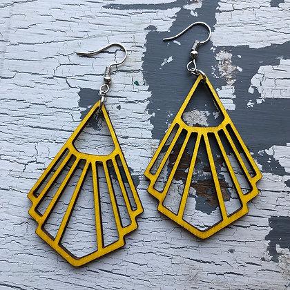 Sunshine Wood Earrings