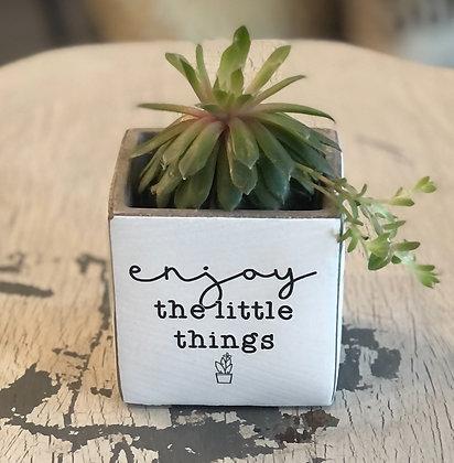Enjoy The Little Things Succulent Pot