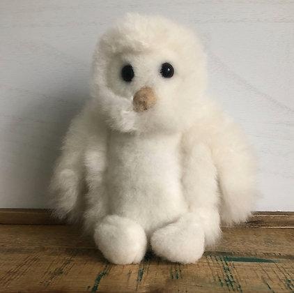 "8"" Alpaca Stuffed Owl"