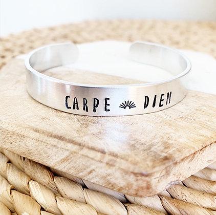 Carpe Diem Stamped Cuff