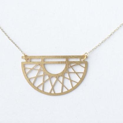 Gold Art Deco Semicircle Necklace