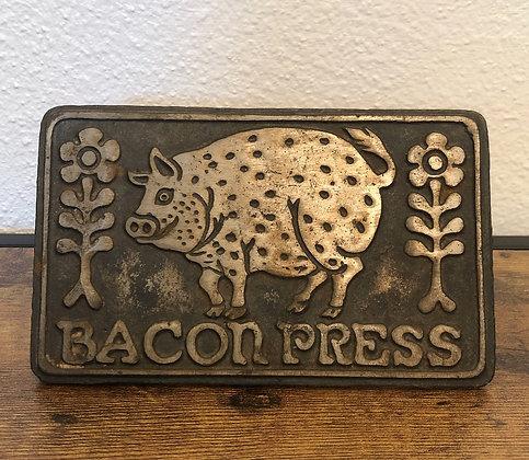 Cast Iron Bacon Press