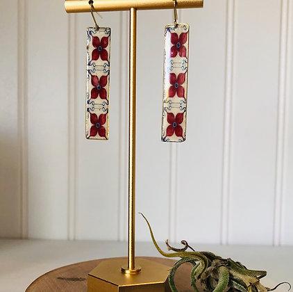 Palatial Print Bar Earrings