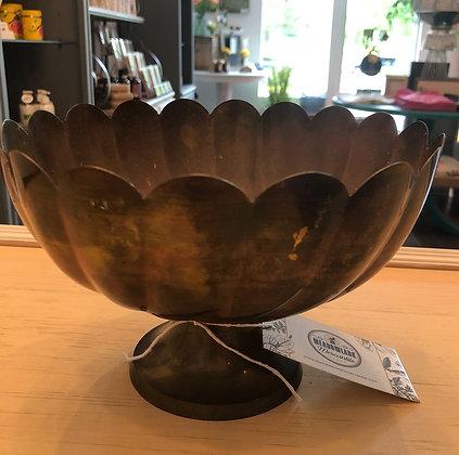 Commodore Solid Brass Scalloped Bowl